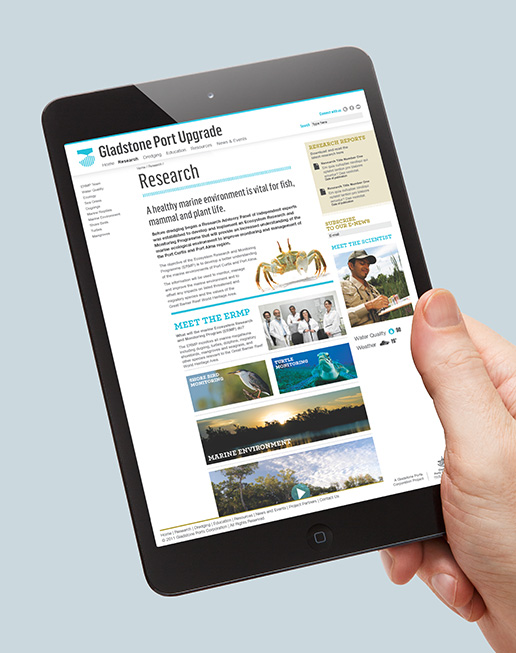 Gladstone Ports Website